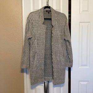 Long open cardigan sweater